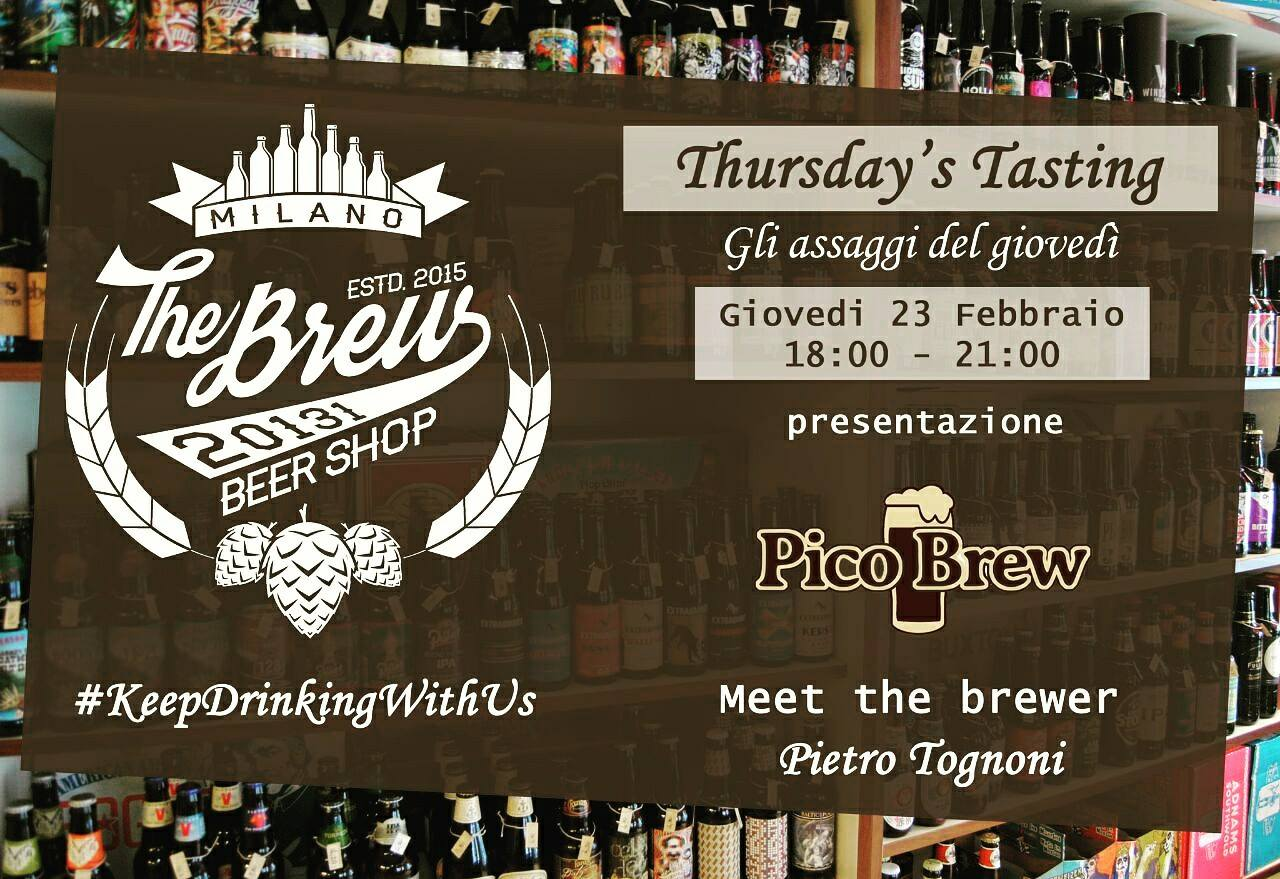 Thursday's Tasting con Pico Brew!